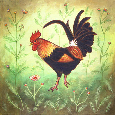 Scooter The Rooster Print by Linda Mears