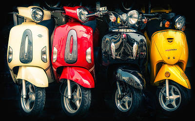 1940-1980 Retro-styled Imagery Photograph - Scooters by Dobromir Dobrinov