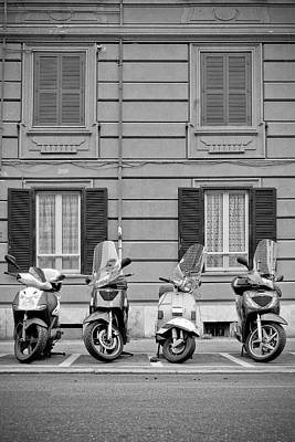 Photograph - Scooters In Roma by Vlad Baciu