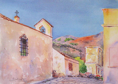 Painting - Scopello Church by Kathleen  Gwinnett