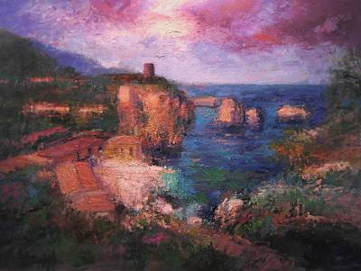 Sicily Painting - Scopello IIi by R W Goetting