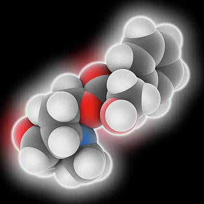 Vomit Photograph - Scopolamine Drug Molecule by Laguna Design