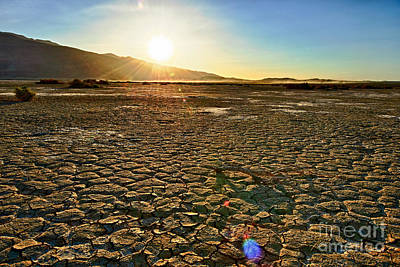 Scorched Earth - Clark Dry Lake Located In Anza Borrego Desert State Park In California. Art Print by Jamie Pham
