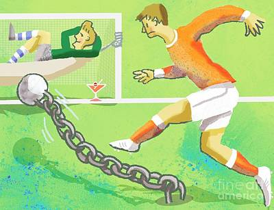 Goalkeeper Photograph - Scoring A Difficult Goal, Concept by Glyn Goodwin
