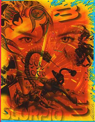 Zodiac Painting - Scorpio by Anthony Whelihan