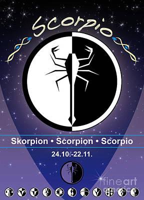 Signs Of The Zodiac Digital Art - Scorpio by Fabian Roessler