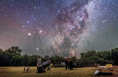 Scorpius Rising At Ozsky Star Party Print by Alan Dyer