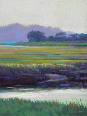 East Sandwich Painting - Scorton Banks by Ed Chesnovitch