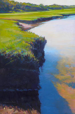 East Sandwich Painting - Scorton's Egde by Ed Chesnovitch