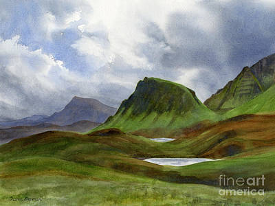 Hills Painting - Scotland Highlands Landscape by Sharon Freeman