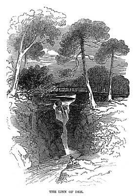Dee Painting - Scotland Linn Of Dee, 1848 by Granger
