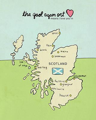 Scotland Painting - Scotland by Lisa Barbero