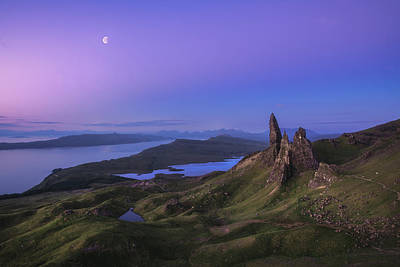 Moon Wall Art - Photograph - Scotland - Storr At Night by Jean Claude Castor
