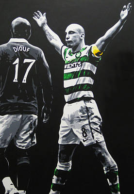 Painting - Scott Brown - Celtic Fc by Geo Thomson