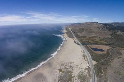 Davenport Beach Photograph - Scott Creek Beach From Above by David Levy