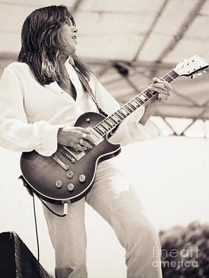The Green Monster Photograph - Scott Gorham Of Thin Lizzy Black Rose Tour At Day On The Green 4th Of July 1979 - 1st Unrelease  by Daniel Larsen
