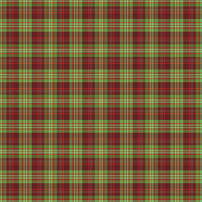 Digital Art - Scott Hunting Green Tartan Variant by Gregory Scott