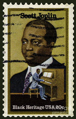Photograph - Scott Joplin Stamp by Phil Cardamone