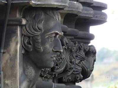 Edinburgh Photograph - Scott Monument Face by Deborah Smolinske