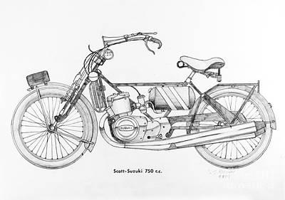 Scott - Suzuki 750 C.c. Art Print