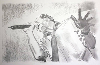 Stone Temple Pilots Drawing - Scott Weiland by Charlotte NC Artist Phil Robinson