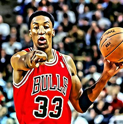 Scottie Pippen Art Print by Florian Rodarte