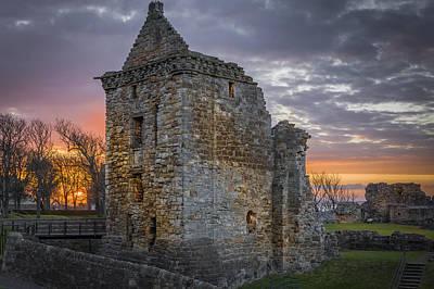 Photograph - St Andrews Castle Scotland Siege by Alex Saunders