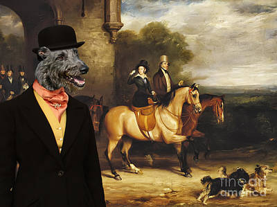 Scottish Dog Painting - Scottish Deerhound Art Canvas Print by Sandra Sij