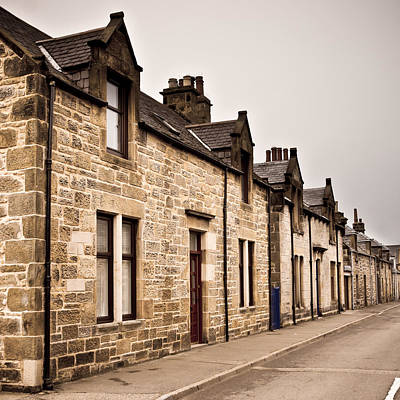 Old Neighbourhood Photograph - Scottish Houses by Tom Gowanlock