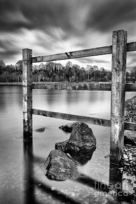 Scottish Loch With Fence Art Print by John Farnan