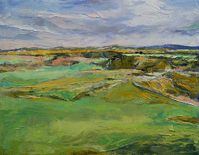 Landschaft Painting - Scottish Lowlands by Michael Creese