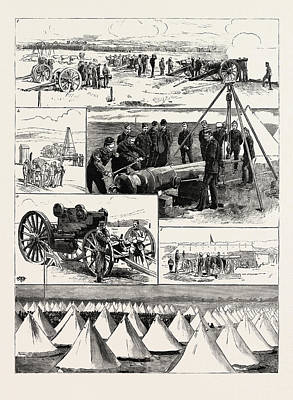 Sling Drawing - Scottish National Artillery Camp At Barry Links by English School