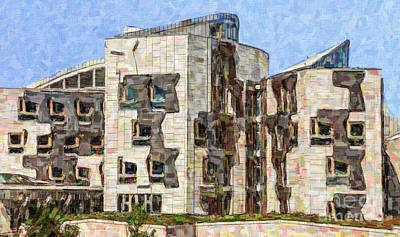 Digital Art - Scottish Parliament Building by Liz Leyden