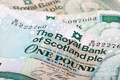 Photograph - Scottish Pound Notes by Diane Macdonald