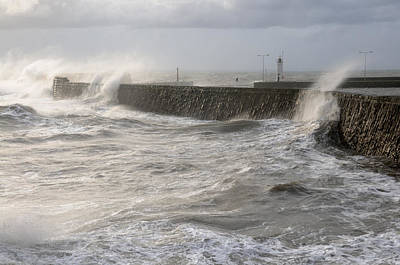 Art Print featuring the photograph Scottish Sea Storm by Jeremy Voisey