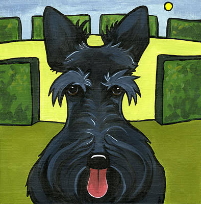 Painting - Scottish Terrier by Leanne Wilkes