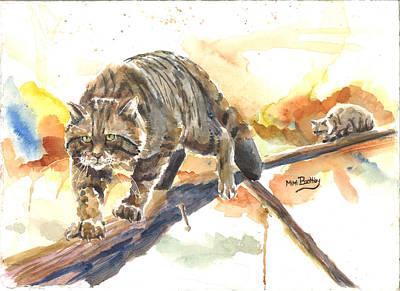 Scottish Wildcat Tom Art Print
