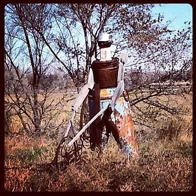 Steel Photograph - Scotts Bluff County #tin #man #farmer by M Hunter