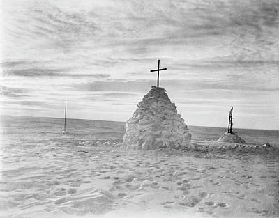 Henry Wilson Photograph - Scott's Polar Party Burial Cairn by Scott Polar Research Institute