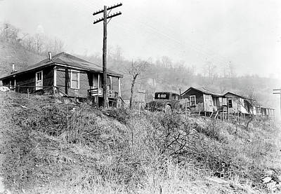Social Change Photograph - Scotts Run, West Virginia. Sessa Hill - The Mine Is A Small by Litz Collection