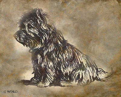 Painting - Scotty Dog by George Pedro