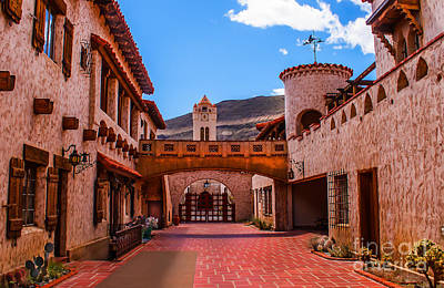Grapevines Photograph - Scotty's Castle Courtyard by Robert Bales