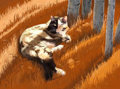 Scout In Autumn Art Print