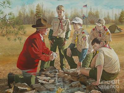 Arkansas Painting - Scout Master's Legacy by Angela S Williams