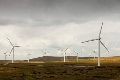 Rotor Blades Photograph - Scout Moor Wind Farm by Ashley Cooper