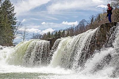 Scouting A Waterfall Art Print