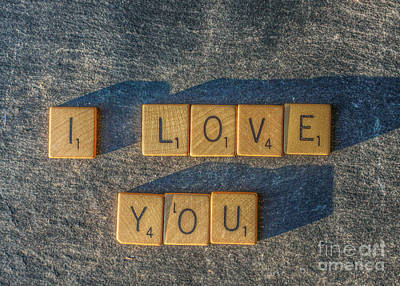 Scrabble I Love You Art Print