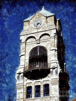 Photograph - Scranton Clock Tower - Lackawanna County Courthouse by Janine Riley