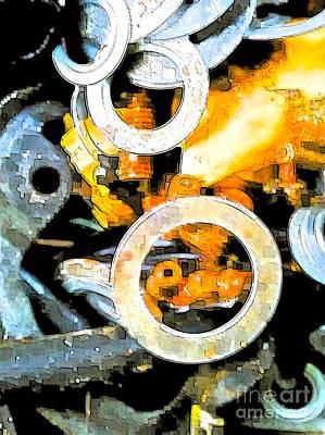 Nuts Mixed Media - Scrap Metal Junkie by Gwyn Newcombe