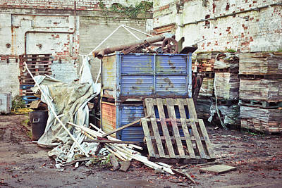 Junk Photograph - Scrap Yard by Tom Gowanlock